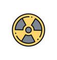 radioactive warning sign radiation nuclear flat vector image