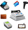 realistic payment set vector image