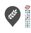 rice plantation marker icon with free bonus vector image vector image