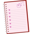 romantic pink note vector image vector image