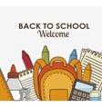 school supplies kit icon vector image vector image