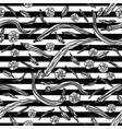 seamless monochrome pattern with peppers vector image vector image