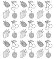 seamless pattern sketch berries vector image vector image