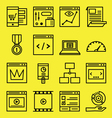 Seo and internet service icons vector image