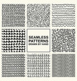 set of hand drawn seamless pattern vector image vector image