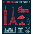 Set of Icons of Travel and Landmarks vector image