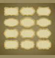 set vintage gold label frames vector image