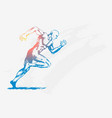 sketch of a man running vector image vector image