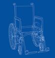 sketch wheelchair vector image