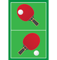 sport game table tennis ping pong vector image