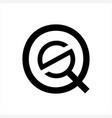 sq qs qso initials letter company logo vector image vector image