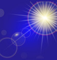 sun light with lens flare effect vector image vector image