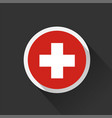 switzerland national flag on dark background vector image vector image