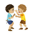 two bad boys fighting part of bad kids behavior vector image vector image