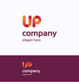 up name logo vector image vector image