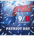usa patriot day card vector image vector image