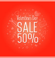 valentines day sale web flyer vector image vector image