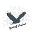 vintage bald eagle silhouette vector image vector image
