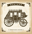 vintage western stagecoach vector image