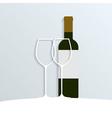 wine 2 vector image