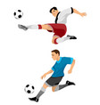 two soccer players vector image