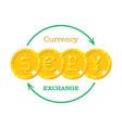 gold money currency exchange vector image