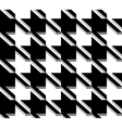 3D Houndstooth Weave Black and White Seamless vector image