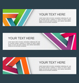 Abstract banners set eps10 vector image vector image
