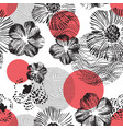 abstract geometric floral seamless pattern hand vector image vector image