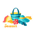 background with beachwear and swimwear vector image vector image