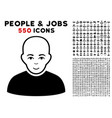 bald patient icon with bonus vector image vector image