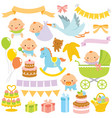 bashower clipart set vector image