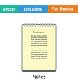 Binder notebook icon vector image vector image