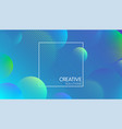 blue creative solutions background with bubbles vector image vector image