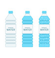 bottle drinking water set vector image vector image