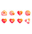 break up nice girl and friends world icons set vector image vector image
