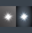 bright glow electric illumination effect star vector image vector image