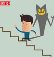 business man running on stair - - eps10 vector image