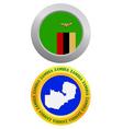 button as a symbol ZAMBIA vector image vector image