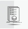 categories check list listing mark line icon on vector image vector image