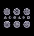 celtic symbols cartoon set celtic icons on stone vector image vector image