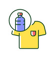 clothes made from plastic bottles rgb color icon vector image vector image