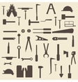 Construction tools silhouette icons set Perfect vector image