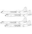 convair b-36 peacemaker vector image vector image