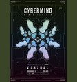 cyberpunk futuristic poster retro futuristic vector image vector image