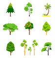 different tree set vector image