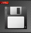 diskette on transparent background vector image vector image