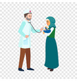 doctor examine baby icon flat style vector image