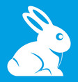 easter bunny icon white vector image