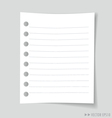 Empty white note paper vector image vector image